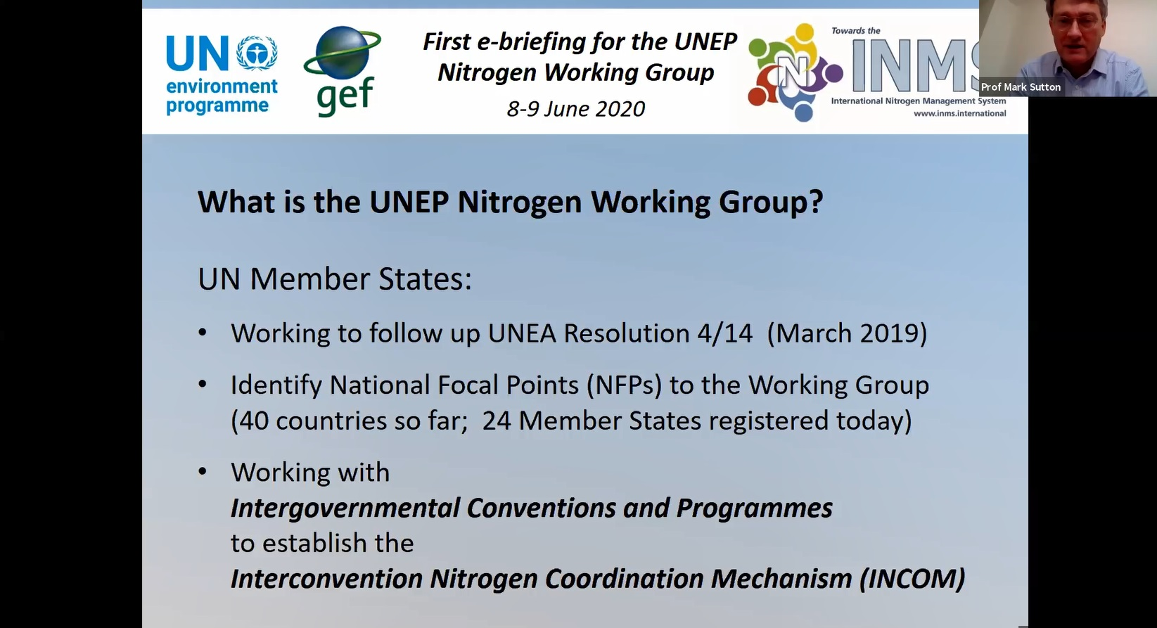 What is the Nitrogen Working Group?